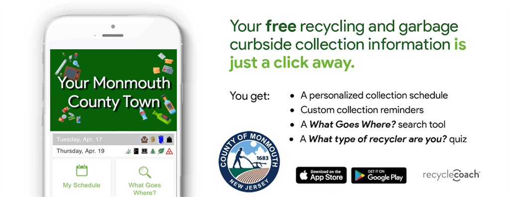 Download the Monmouth County Recycle Coach App for free today